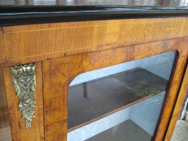 Burr Walnut Pier Cabinet Detail